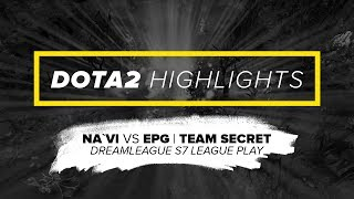 Na`Vi.Dota2 Highlights vs EPG, Team Secret @ DreamLeague S7