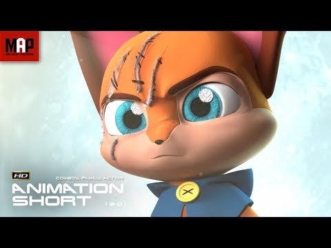 """CGI 3D Animated Short Film """"PLUSH ASSASSIN"""" Cute Action Animation by Anca Miha & Ringling College"""