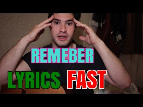HOW TO REMEMBER LYRICS EASILY FAST - MEMORIZE A SONG FASTER AND NOT FORGET FOR RAP QUICKLY