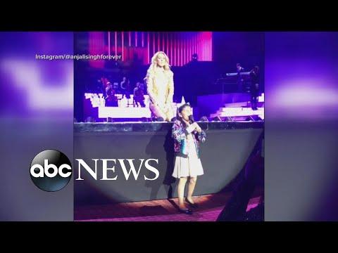 Young Celine Dion Fan Sings At Las Vegas Show L GMA