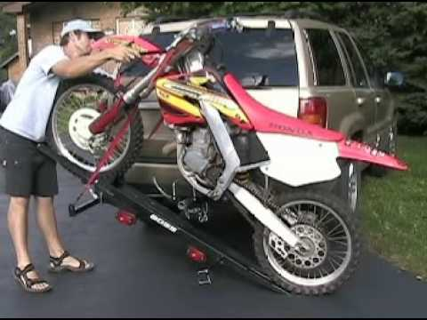 Boss Hitch Mounted Motorcycle Carrier Operation Youtube