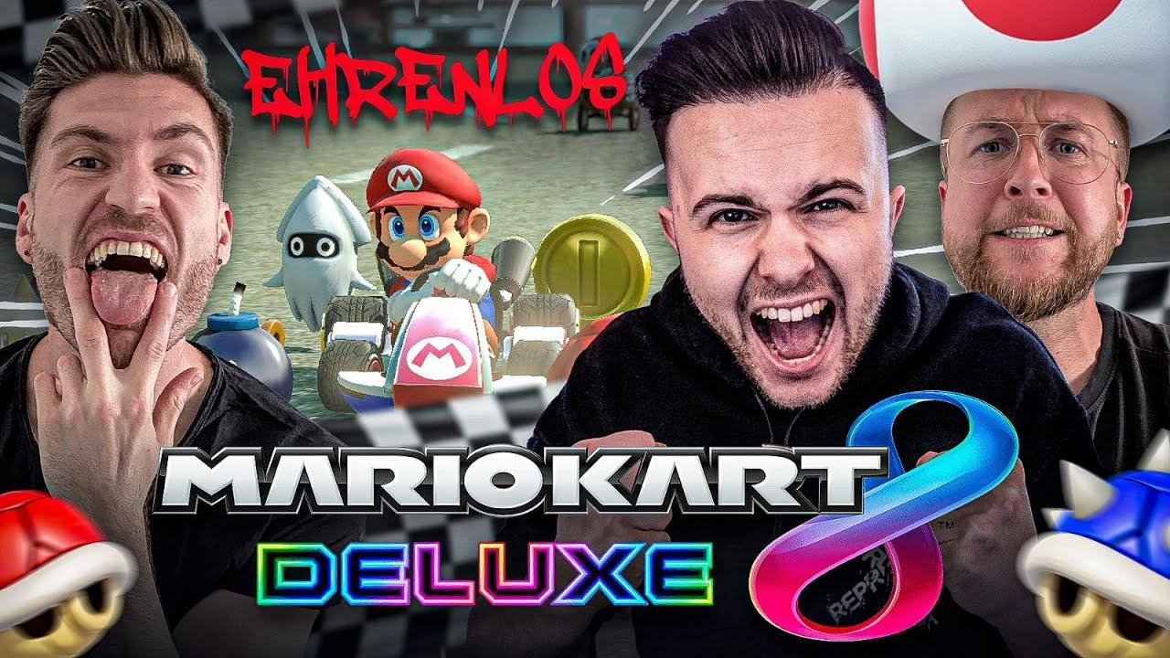 Hier ENDEN FREUNDSCHAFTEN .. 🤯😂 EHRENLOS in MARIO KART mit GamerBrother (Sauski) !!