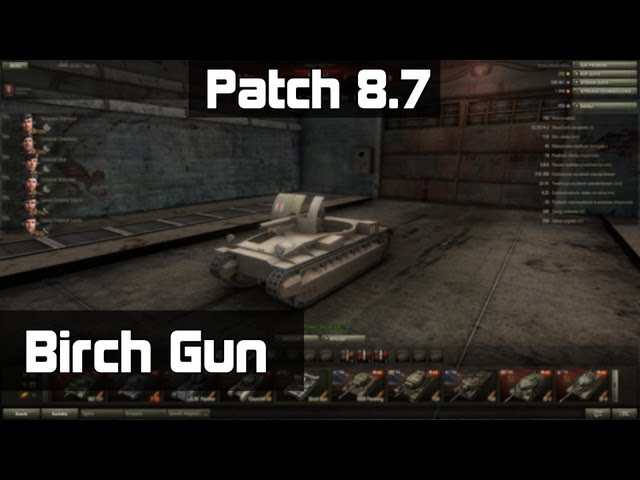World of Tanks - Patch 8.7 # Birch Gun - test i porównanie nowego dzia?a samobie?nego