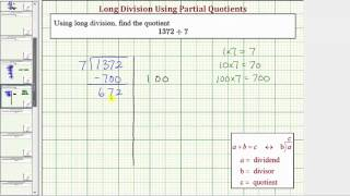 Ex: Division Using Partial Quotient - Four Digit Divided by One Digit (No Remainder)