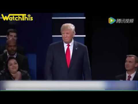 Donald Trump vs Hillary Clinton Karaoke games 川普希拉里卡拉OK情歌对唱- from Second Presidential Debate