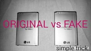 How to tell If a LG G3 battery is Fake or Original (simple trick)
