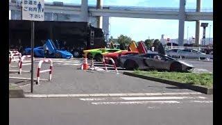 9月9の日曜日 大黒に集まったスーパーカーたちの様子です ランボルギ...