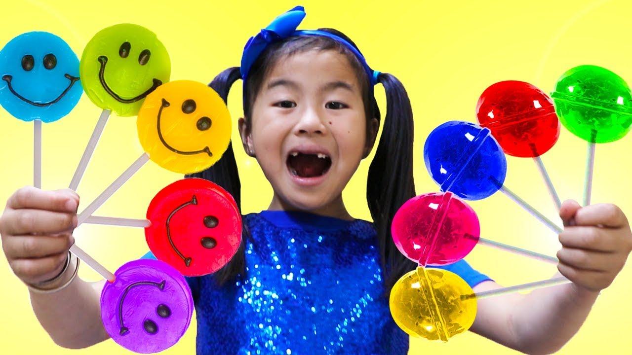 Rainbow Fruit Lollipops Color Song   Jannie Pretend Play Learn Colors Nursery Rhymes & Kids Songs