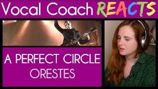 Vocal Coach reacts to A Perfect Circle - Orestes - Stone and Echo (Maynard James Keenan)