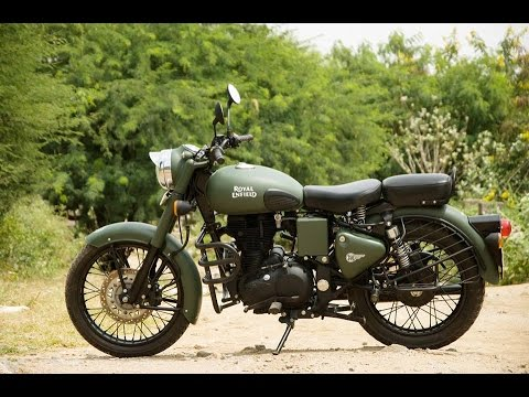 Royal Enfield Bullet Modified Military Green Classic 350 Classic