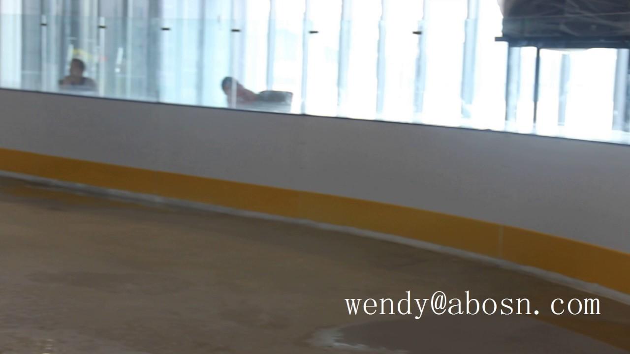 hockey dasher board installation 1 youtube