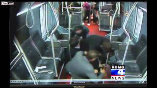 Metro Bus Passengers Overpowering Armed Robber in Seattle (CCTV) || HD