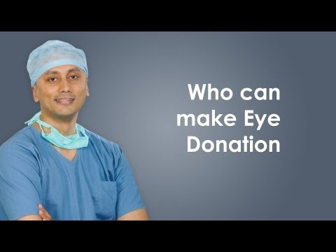 Who all can make eye donation?