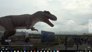 Динозавры в городе!!!!Dinosaurs in the city!Юркин парк!