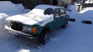 Мерседес 123 300 Д ,меняем колёса ставим на прикол .