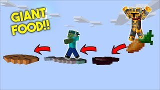 MC NAVEED AND MARK FRIENDLY ZOMBIE GET GIANT FOOD INSIDE OUR HOUSE MOD !! Minecraft Mods