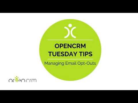 Tuesday Tip - Managing Email Opt-Outs