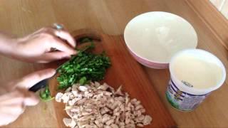 Очень легкий салат с кинзой. Very light salad with cilantro