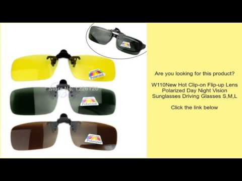 0a6e0f3086 W110New Hot Clip-on Flip-up Lens Polarized Day Night Vision Sunglasses  Driving Glasses S