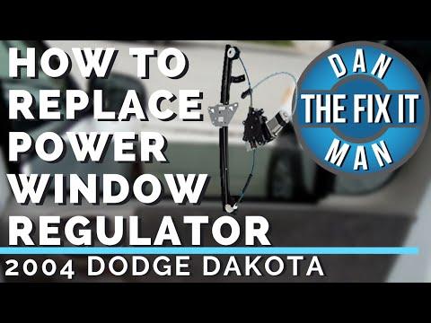 2004 DODGE DAKOTA – HOW TO REPLACE A BROKEN POWER WINDOW REGULATOR – DIY