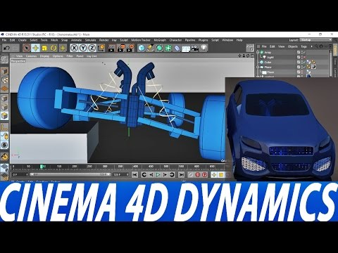CINEMA 4D | DYNAMICS | CONNECTORS | CAR RIG | DOUBLE WISHBONE | TUTORIAL