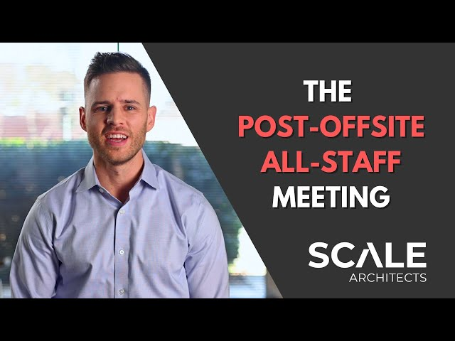 Transform information into action with a Post Offsite All Staff meeting