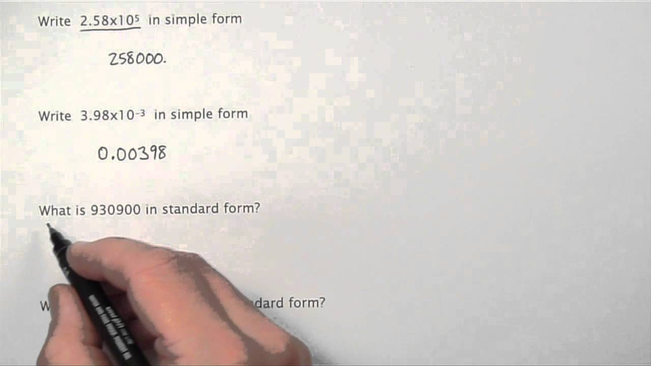 standard form youtube  Standard Form YouTube.mov
