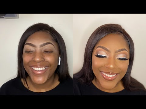 matte neutral cut crease client makeup tutorial filmed