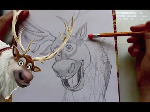 how to draw sven from disneys frozen dramticparrot youtube