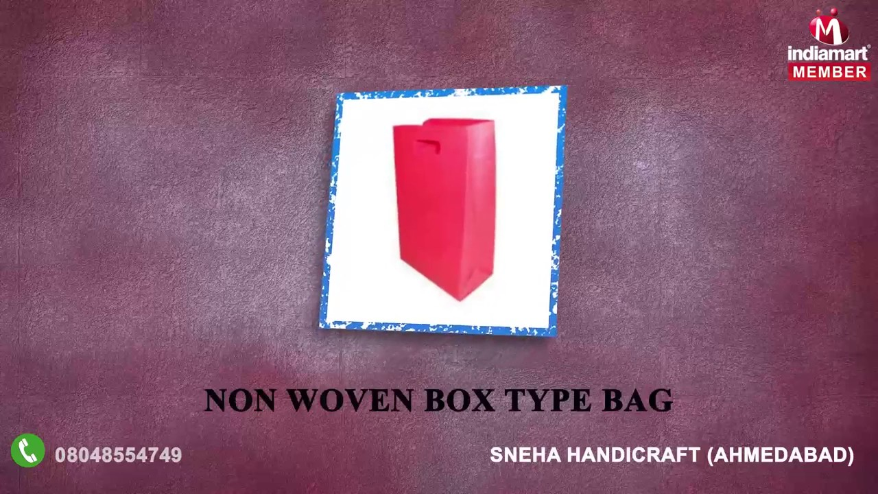 Non Woven And Shopping Bags By Sneha Handicraft Ahmedabad Youtube