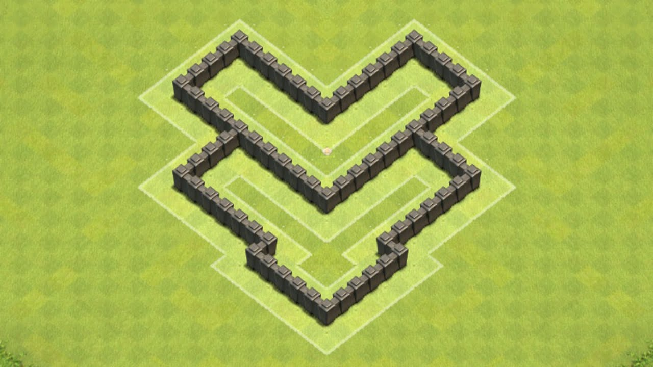of Clans Town Hall 4 Defense BEST CoC TH4 Hybrid Base Layout Defense