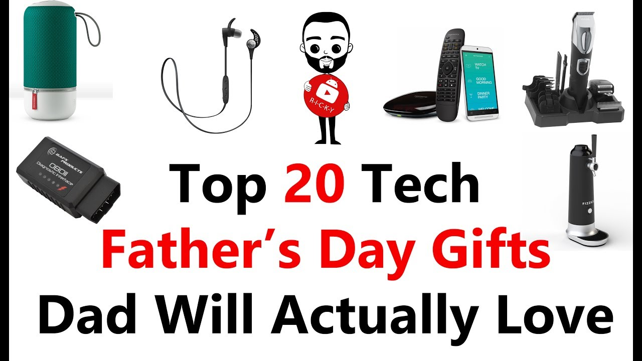Tech Gifts For Dad Top 20 Tech Gifts Dad Will Actually Love  Youtube