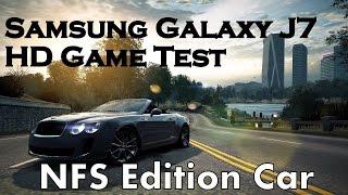 Samsung Galaxy J7 HD Game Test: NFS MW