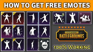 HOW TO UNLOCK FREE ALL EMOTES IN PUBG MOBILE NEW TRICK ! YOU MISS IT ? 2021 ? NEW TRICK