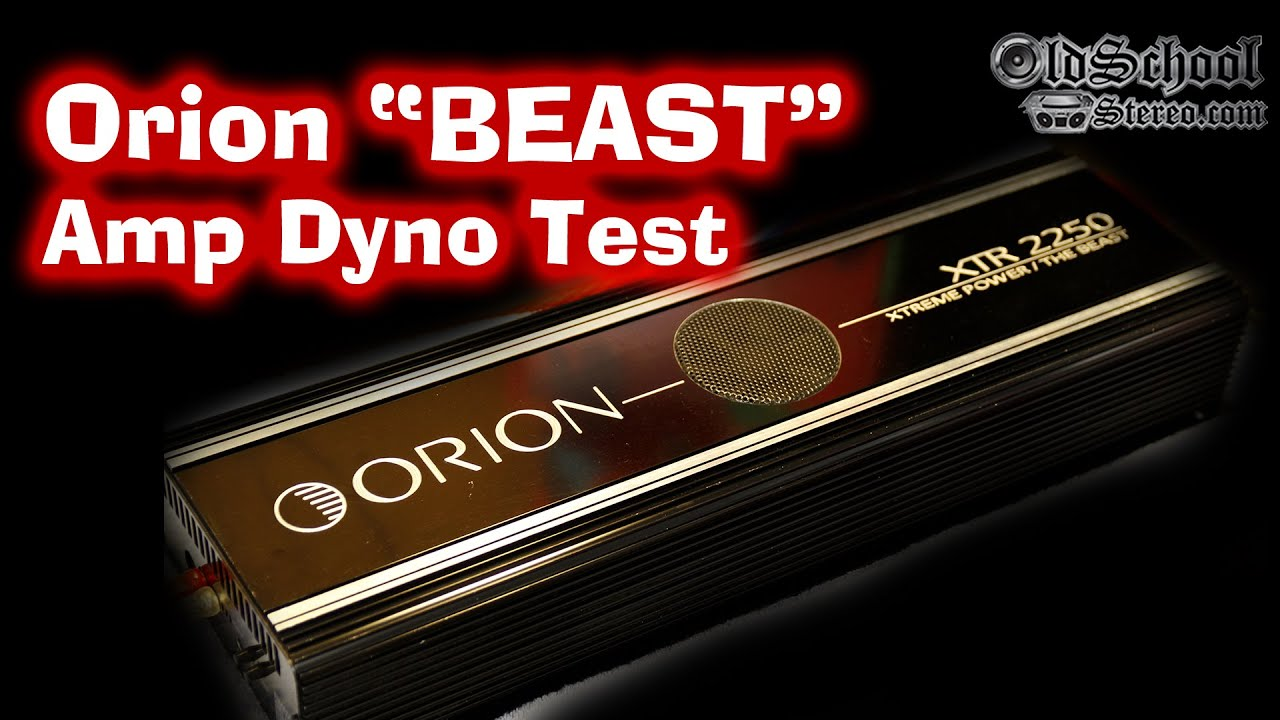 Orion XTR-2250 on SMD Amp Dyno - YouTube