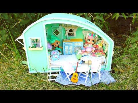 NEW OMG LOL Surprise Glamper Car DIY ! NEW Dollhouse DIY !