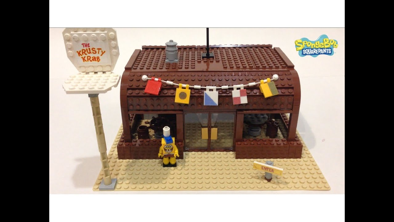 Lego Custom Krusty Krab Review - YouTube