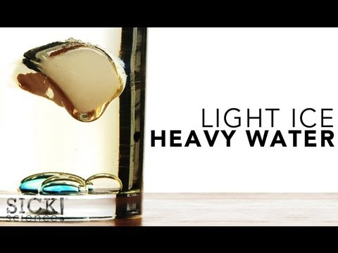 Light Ice, Heavy Water - SICK Science | Experiments | Steve Spangler