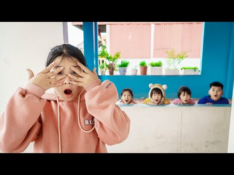 Kids Go To School | Chuns And Best Friend's Hide And Seek Game In Happy House |