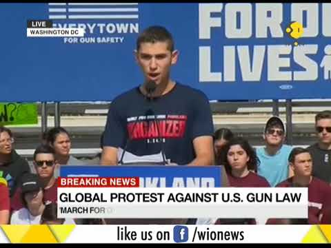 Global protest against US gun law