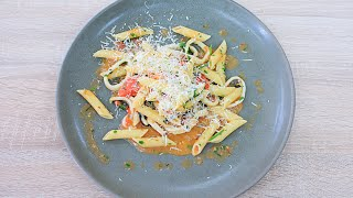 Томатная паста с кальмарами / Tomato Pasta with Calamari