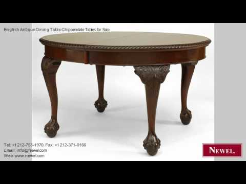 English Antique Dining Table Chippendale Tables for Sale