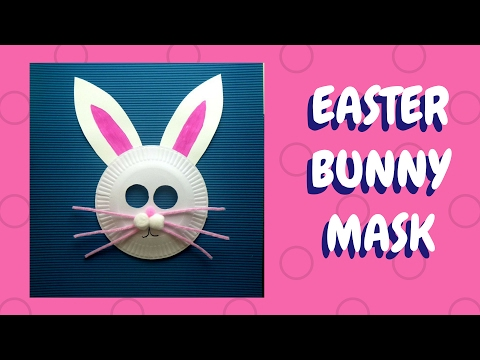 Easter Crafts Paper Plate Bunny Mask Paper Plate Crafts Youtube