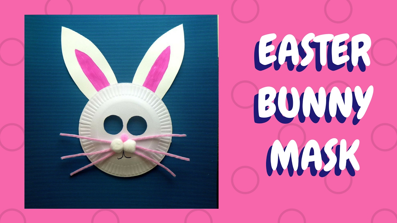 Easter Crafts - Paper Plate Bunny Mask - Paper Plate ...