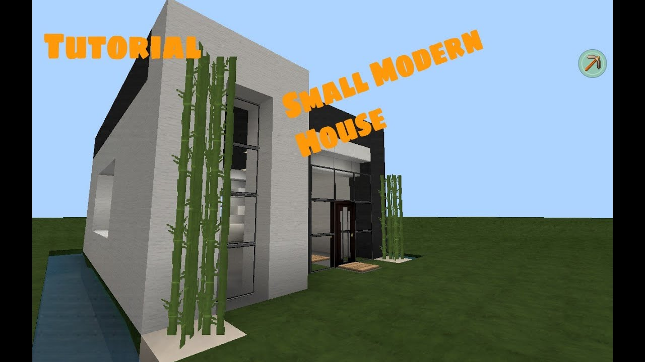 MCPE Small Modern House Tutorial YouTube