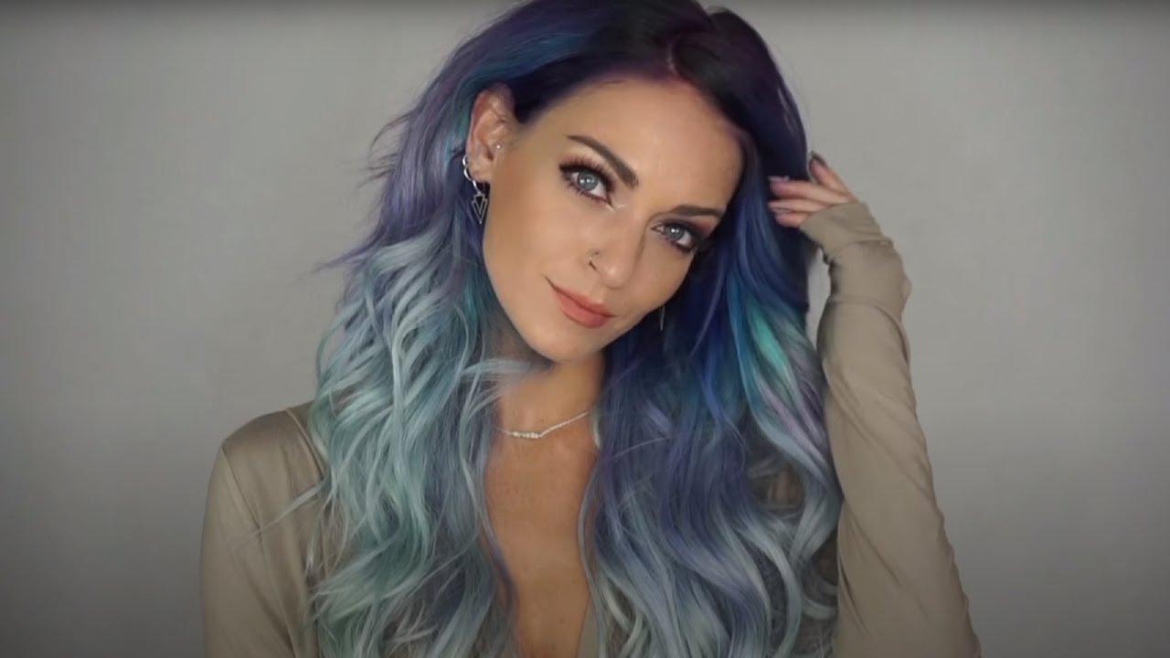 Geode Swirls Blue Color Melt Hair Youtube