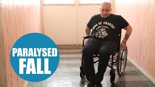 Dad left paralysed after cracking his head on a pavement