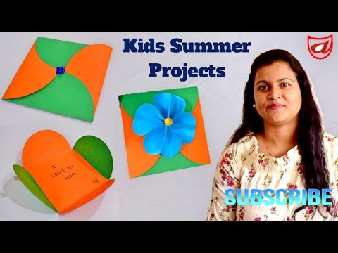 COOLEST DIY PAPER GREETING CARDS FOR SUMMER KIDS CRAFTS ACTIVITY