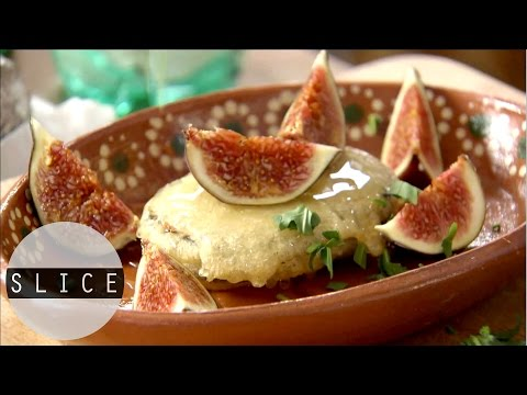 Fried Goats Cheese With Honey & Figs | SLICE