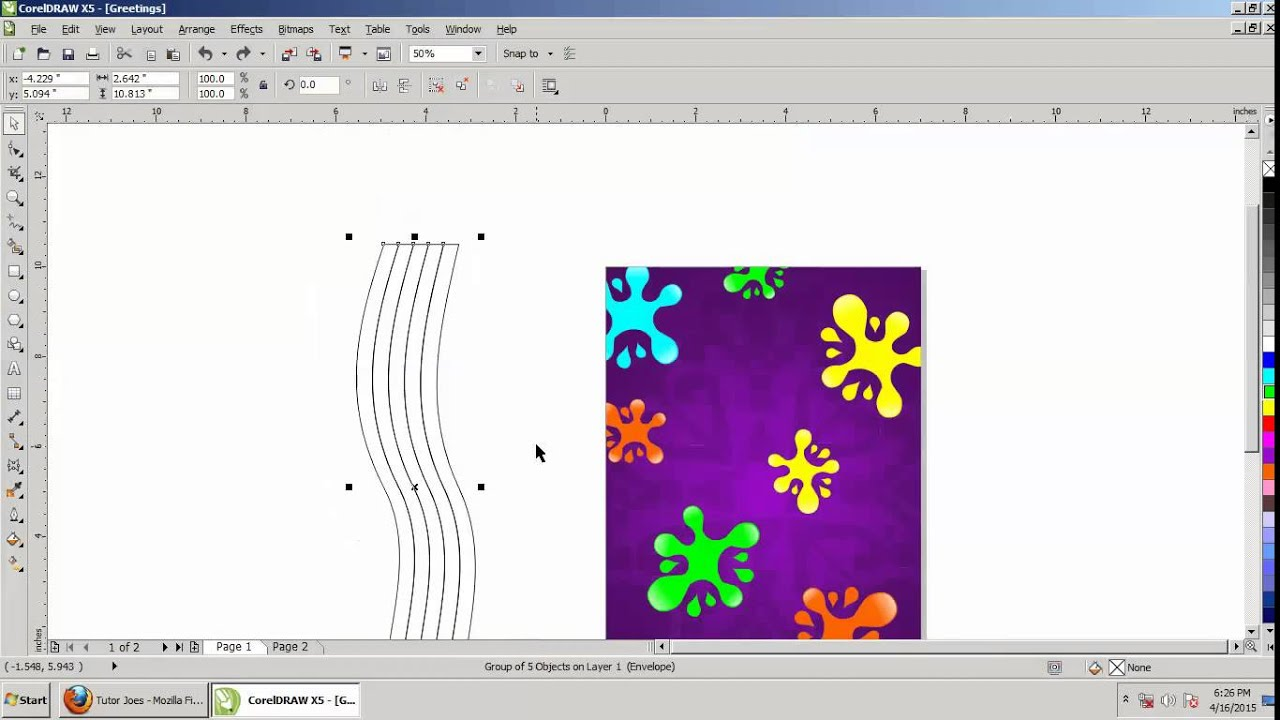 How To Create A Greeting Card Design In CorelDraw X5 Tamil Part 3
